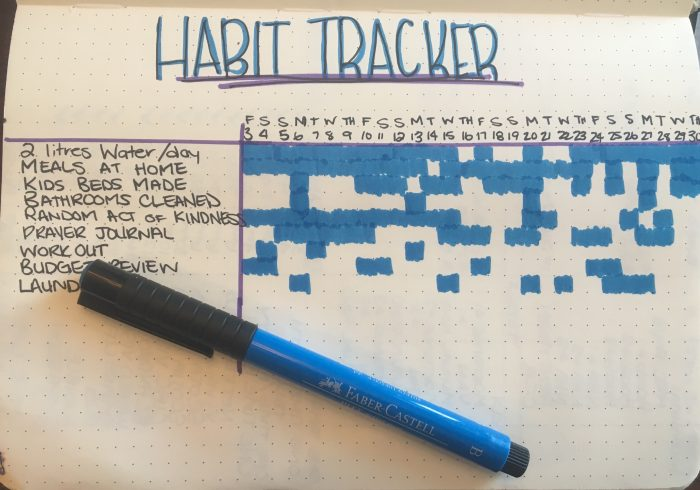 habit tracker, bullet journal